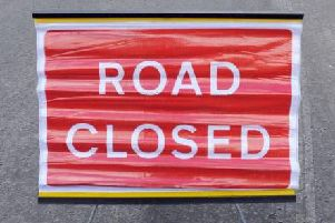 The road will be closed between 7pm and 6am