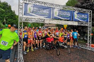 Almost 1,000 runners get ready for the 2019 Walled City Marathon