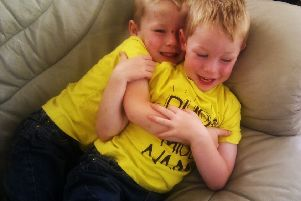 Diarmuid (left) and his twin brother Cormac were best buddies.