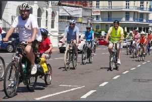 There will be a cycling rally along Eastbourne seafront