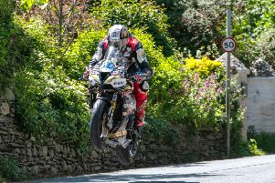 PACEMAKER, BELFAST, 6/6/2019: Peter Hickman (Trooper Beer Triumph by Smiths Racing) at Ballacrye during the Supersport TT race 2 at TT2019.'PICTURE BY TONY GOLDSMITH