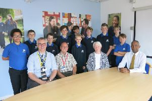 Kenilworth School's Interact Club with representatives from the Kenilworth Rotary Club