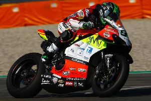 Team Go Eleven Ducati rider Eugene Laverty was injured in a crash at Imola in Italy.