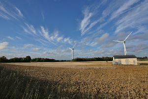 Blue skies at Shepham Wind Farm at Pevensey, taken by Barry Davis on a Canon 5d. SUS-181209-151138001