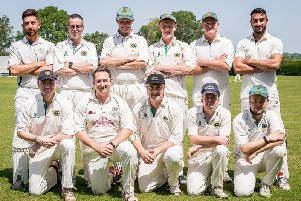 Willoughby CC 1st XI pictured before Saturdays defeat to Bugbrooke: (Back from left): Hassan Nawaz, Dave Alcock, Ashley Rayner, Ben Hollis, Martin Nichols, Manny Sidhu. (Front): Graham Hallam, Richard Foxon, Mark Fell, Ryan Perry, Tom Stevenson.