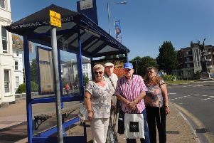 Bus Stop on Cornfield Road, War Memorial end, Eastbourne (Photo by Jon Rigby) SUS-170615-092041008