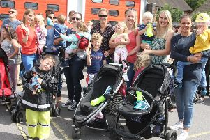 Residents at the carnival and fire station open day in 2018
