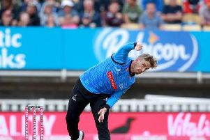 Will Beer in t20 action for the Sharks / Picture: Sussex Cricket