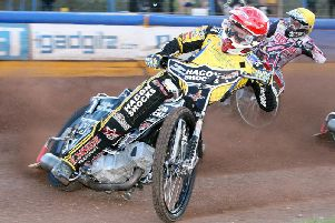 Eastbourne Speedway's Edward Kennett. Picture by Mike Hinves