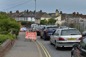 Roadworks in Whitley Road, Eastbourne (Photo by Jon Rigby)