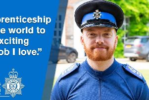 Matt Duvall is the new Sussex Police apprentice SUS-190719-170643001