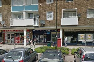 Police are appealing for witnesses to the robbery at Martin's newsagents in Crawley. Picture: Google Street View