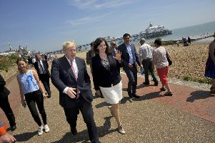 Boris Johnson visits Eastbourne, by Mark Dimmock