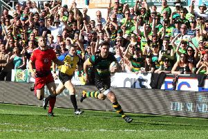 Ben Foden scored on his final Saints appearance (picture: Sharon Lucey)