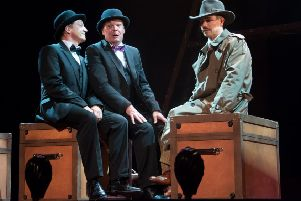 Jon Monie, Philip Stewart and Oliver Mellor in The 39 Steps