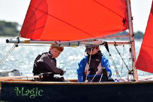 Young sailors get stuck into the Dell Quay regatta / Picture by Chris Hatton