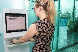 A new electoral registration kiosk has been installed at the Braid in Ballymena