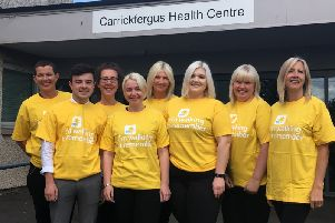 Some members of The Castle Practice team who are taking part in the charity walk.
