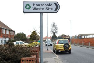 Household Waste Recycling Site, St. Philips Avenue Eastbourne. march 18th 2014 E11180Q SUS-140319-130900001