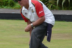 Peter Ruffold's bowling for Lurgan 2 in the recent Veterans' derby match against Lurgan 1