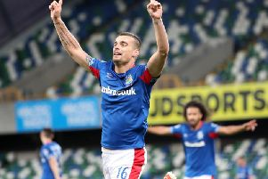 Linfield delight at Windsor Park on the way to European history