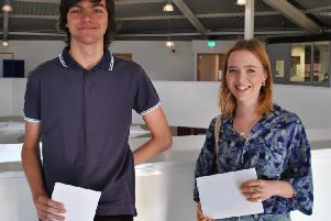 Bexhill College students opening their A-level results