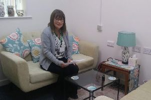 One of the counselling volunteer in the new counselling room
