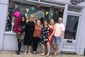 Codi, Sarah Elliott, Amie Lovesey, Kim Taylor, Daisy Joines and Peter Gibbs, staff at TINT Hair Lounge in Emsworth, who celebrated their first birthday last week.