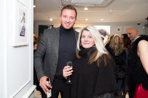 Jason Burrill, alongside Celeb FC founder Karin Flower