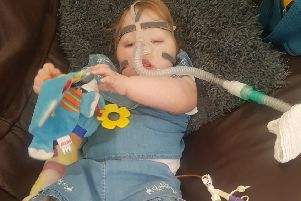 Elsie Brooke Grantham has to use a BiPap machine to help her with her breathing