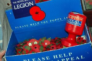 The highlight of John's year was selling poppies in Eastbourne