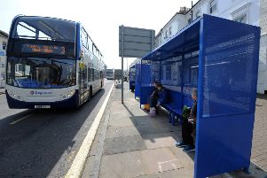 New Bus stops in Gildrege Road, Eastbourne (Photo by Jon Rigby)