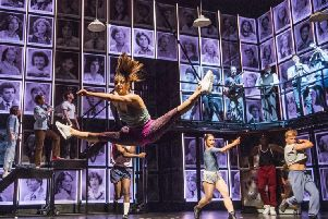 A scene from Fame The Musical Tour @ Palace Theatre, Manchester. Director and Choreographer Nick Winston.'(Taken 19-07-18)'�Tristram Kenton 07-18'(3 Raveley Street, LONDON NW5 2HX TEL 0207 267 5550  Mob 07973 617 355)email: tristram@tristramkenton.com SUS-190817-093828003