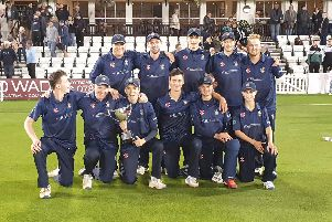 Eastbourne with the trophy