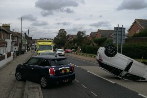 Emergency services are on scene after the collision in Victoria Drive, photo by Logan MacLeod
