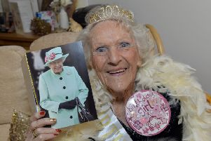 Joyce Atter-Freer celebrates her 100th birthday (Photo by Jon Rigby) SUS-191209-101427008