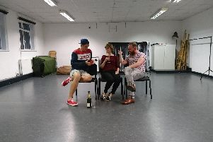 The Bench Theatre Company in rehearsal for The Pride, which is at The Spring Arts Centre in Havant, September 18-21, 2019