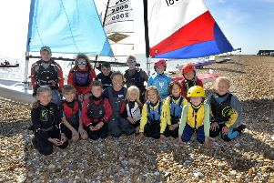 Nikki Boniface - Eastbourne's Olympic Sailor at Pevensey Bay Sailing Club (Photo by Jon Rigby) SUS-190916-110604008