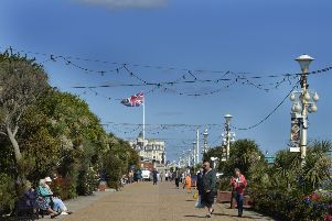 Lights on the upper promenade at Eastbourne (Photo by Jon Rigby) SUS-190919-105905008