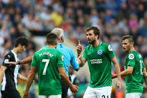 Brighton and Hove Albion midfielder Davy Propper remains a doubt for Tottenham with a hamstring injury