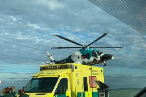 Air ambulance incident in Eastbourne. Photo by David Ray