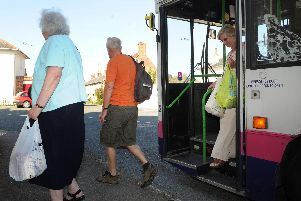 Passengers get off a bus in Portsmouth. Pictures: Ian Hargreaves  (113455-4)