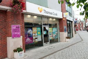 Thomas Cook, in Pescod Square Shopping Centre, shortly after its closure.