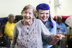We visited Age UK in Northampton this week where residents and volunteers were pictured by Kirsty Edmonds dancing and having fun.
