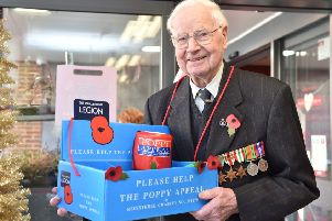 Wally Randall is still selling poppies at the age of 104