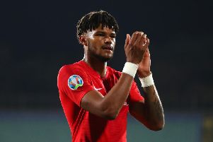 Tyrone Mings was credited for his class and professionalism during his debut in Sofia against Bulgaria