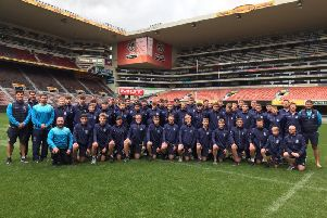 Tour squad at Newland Rugby Stadium in Cape Town