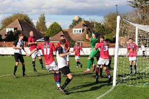 Pagham take on Eastbourne Utd Assoc at Nyetimber Lane / Picture by Roger Smith