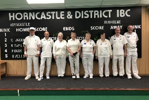 Pictured are part of Horncastle's home mixed team who played against Dunholme on Sunday. Left to right are N. Burton, P. Bark, O. Wells, L. Main, J. Moody, P. Scholey, S. Boucher, P. Boulton.