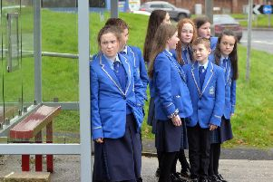 Pupils from St John the Baptist's College Portadown